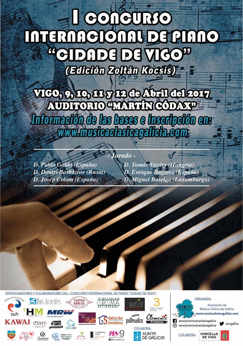 """I Concurso Internacional de Piano """"Cidade de Vigo"""""""